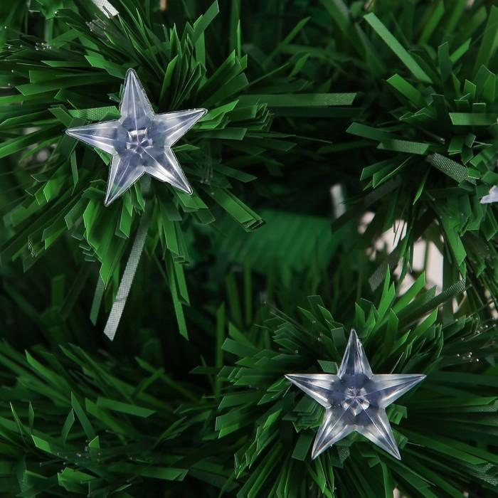 Ёлка фиброоптическая звезда, 90 см 80 веток