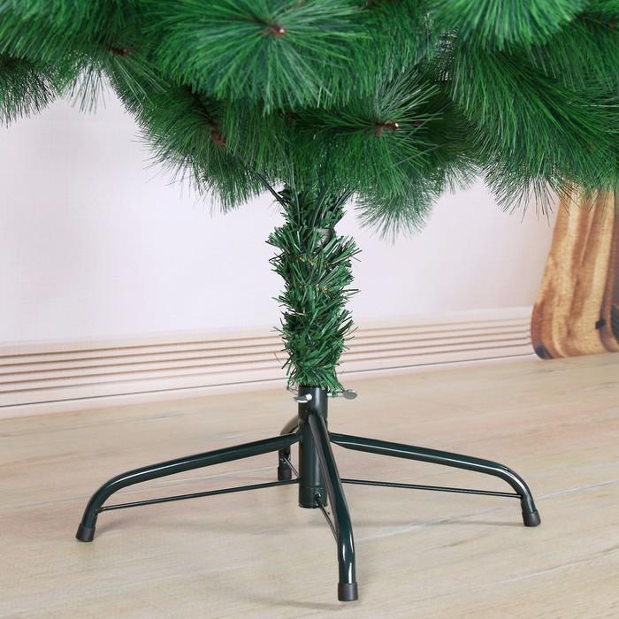 Кедр зеленый 180 см, d иголок 10 см, d нижнего яруса 102 см, 235 веток, металл подставка