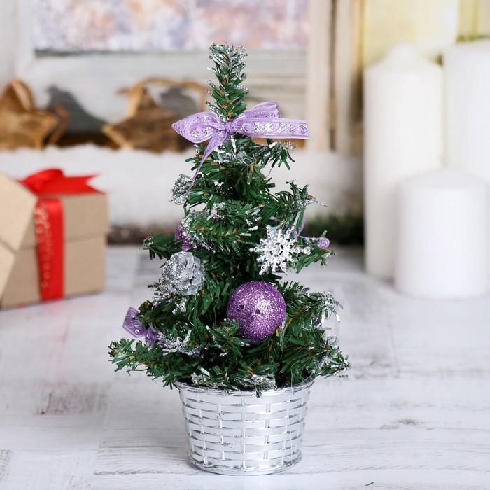 Ёлка декор 20 см фиолет шары