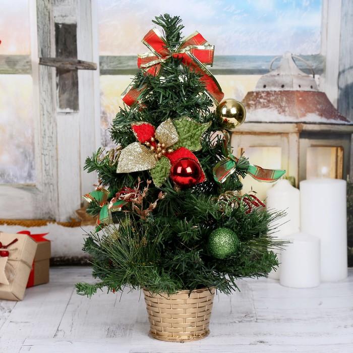 Ёлка декор 40 см новогодние листочки