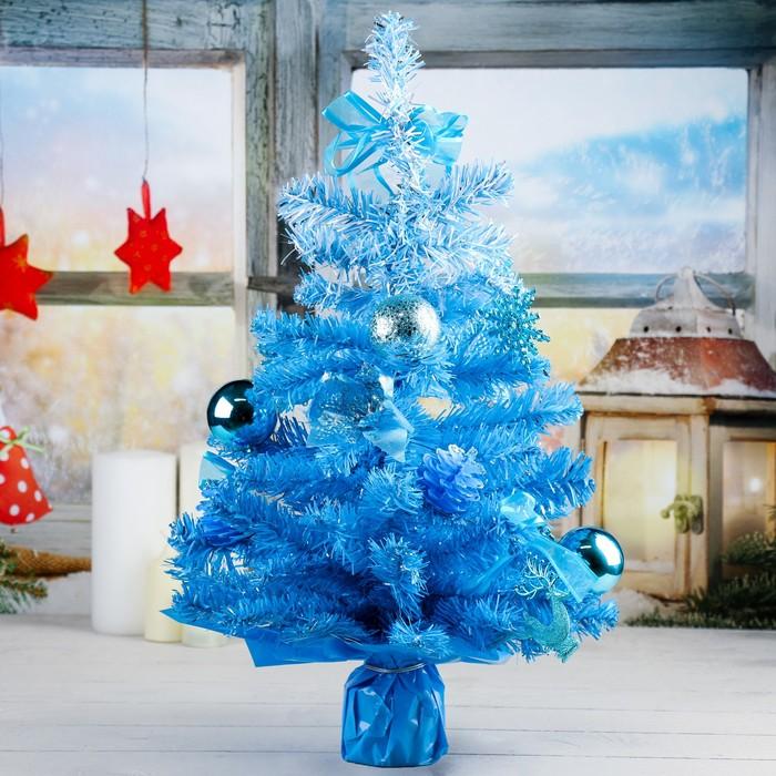 Ёлка, декор, 50 см, голубой