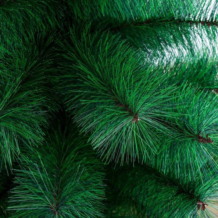 Кедр зеленый 90 см, d иголок 10 см, d нижнего яруса 58 см, 57 веток, пласт подставка