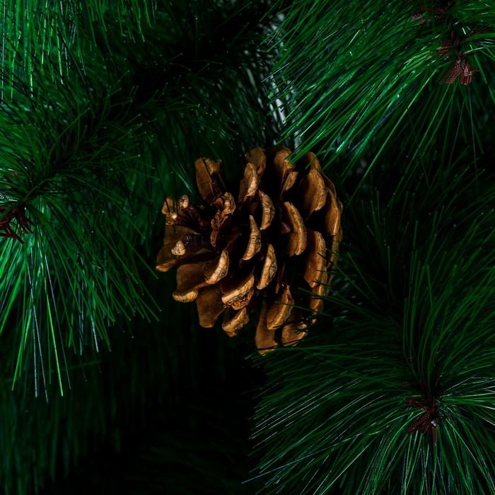 Кедр зеленый шишки 90 см, d нижнего яруса 60 см, d игл 10 см, 57 веток, пласт подставка