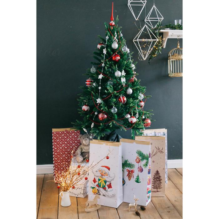 Пакет крафтовый «Время подарков», 32 х 64 х 16 см