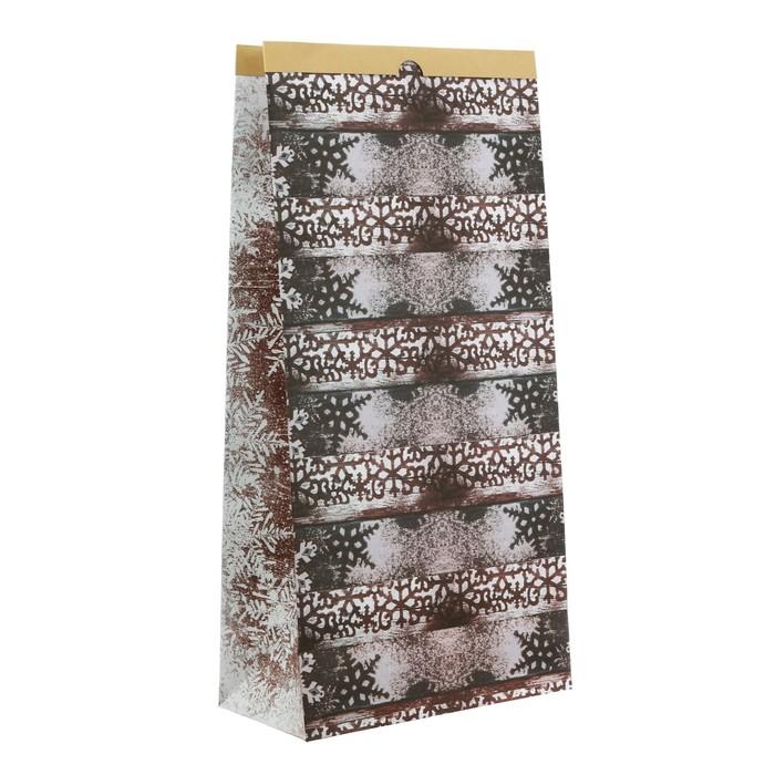 Пакет крафтовый «Морозное утро», 32 х 64 х 16 см