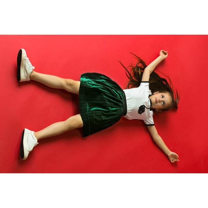 """Юбка для девочки """"Велюр"""", рост 92-98 см, цвет зелёный"""