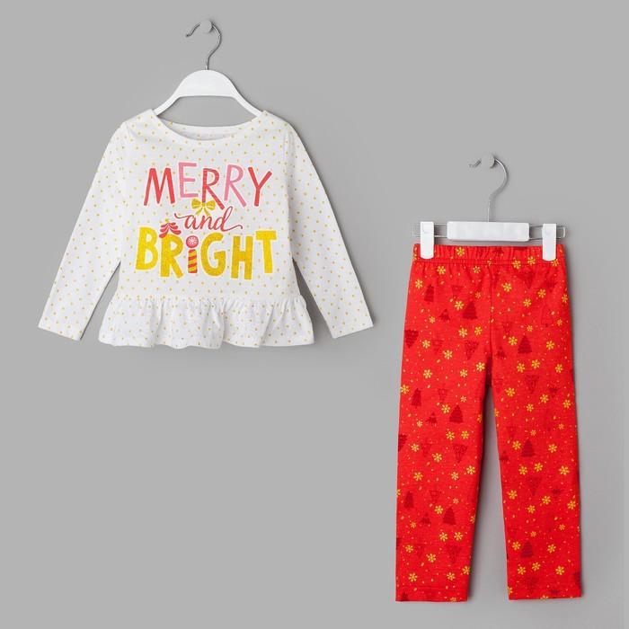"""Пижама детская KAFTAN """"Bright"""" р.34 (122-128), красный/белый"""