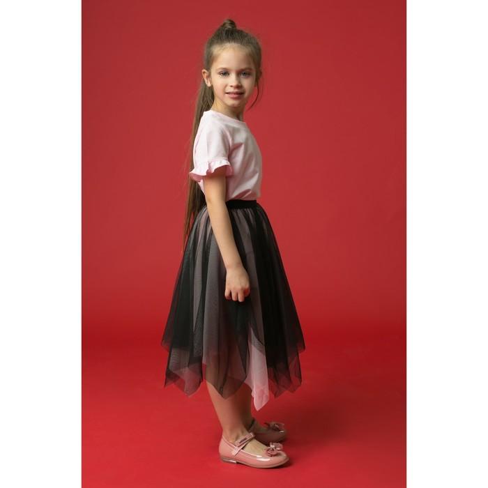 """Юбка для девочки """"Волшебство"""", рост 104-110 см, цвет чёрный/розовый"""