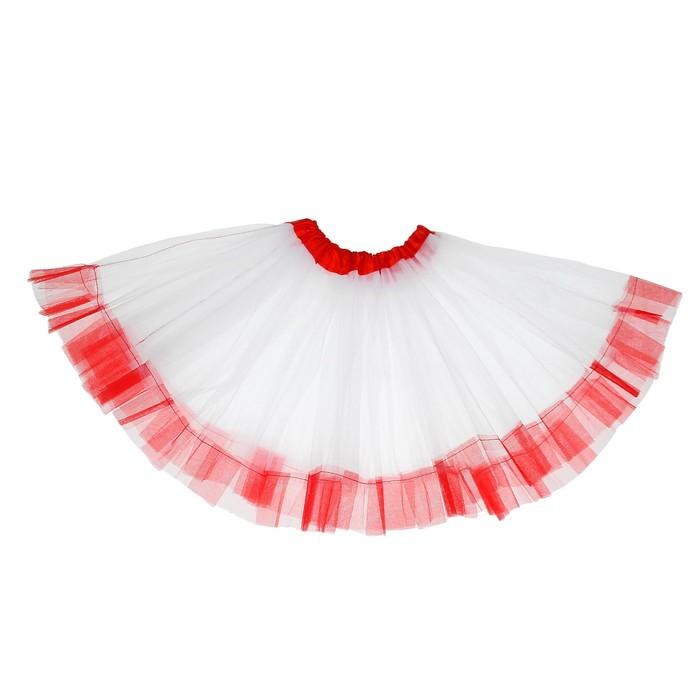 """Карнавальная юбка """"Кокетка"""" 2-х слойная 4-6 лет, цвет белый"""