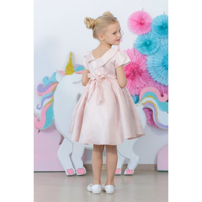 Платье нарядное для девочки MINAKU «Жаклин», рост 122 см, цвет розовый