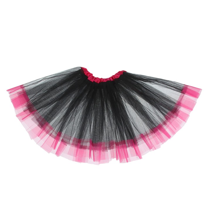 """Карнавальная юбка """"Кокетка"""" 2-х слойная 4-6 лет, цвет чёрный"""