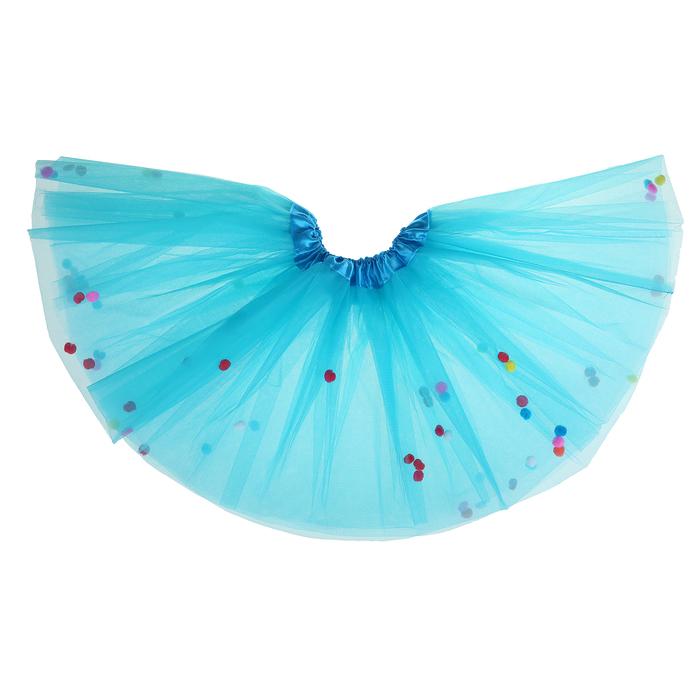 """Карнавальная юбка """"Шарики"""", цвет голубой"""