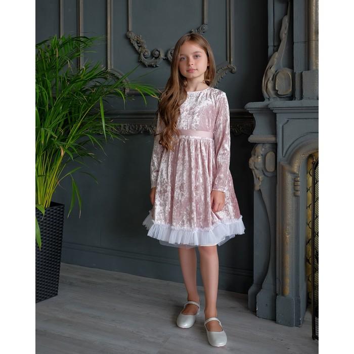 """Платье для девочки KAFTAN """"Куколка"""", розовый, рост 86-92, р.28"""
