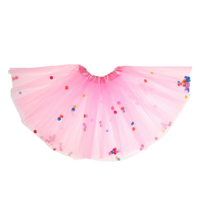 """Карнавальная юбка """"Шарики"""", цвет розовый"""