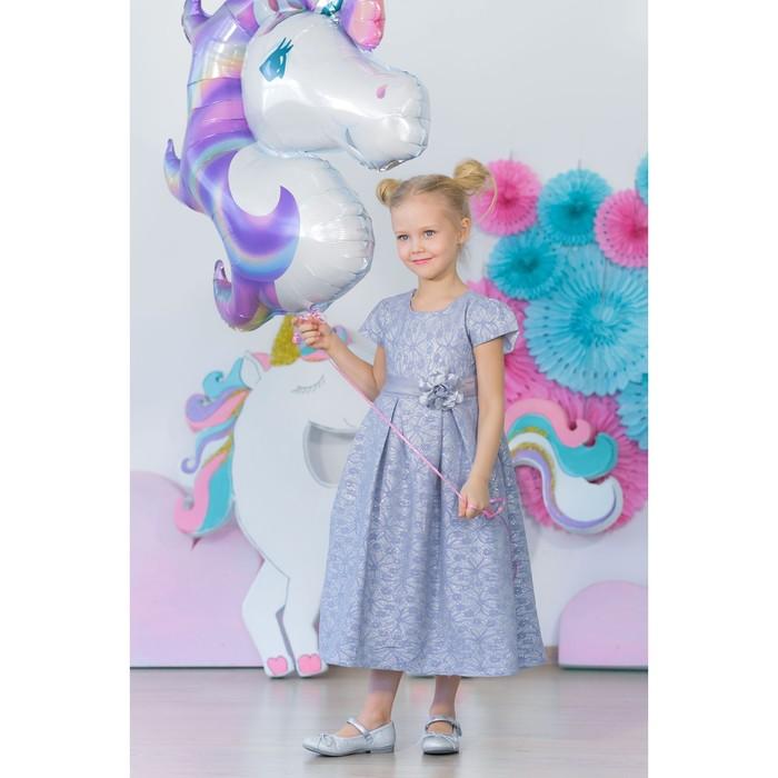 Платье нарядное для девочки MINAKU «Офелия», рост 128 см, цвет голубой/серебро