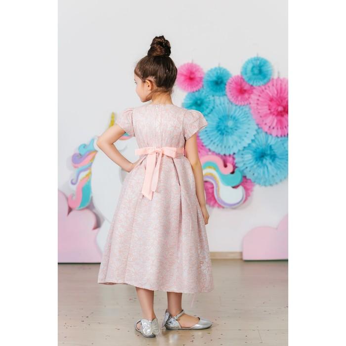 Платье нарядное для девочки MINAKU «Офелия», рост 110 см, цвет розовый/серебро