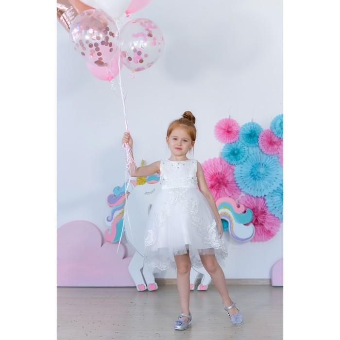 Платье нарядное для девочки MINAKU «Жасмин», рост 134 см, цвет белый