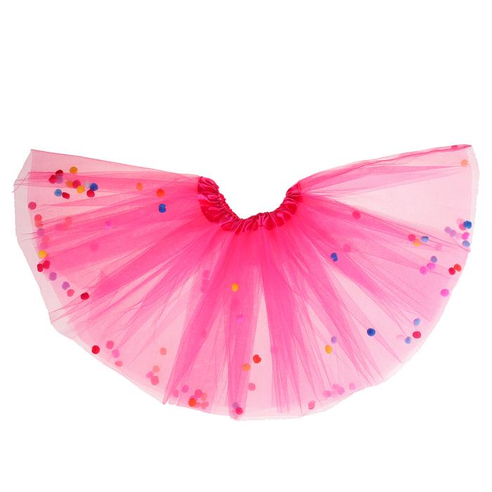 """Карнавальная юбка """"Шарики"""", цвет малиновый"""
