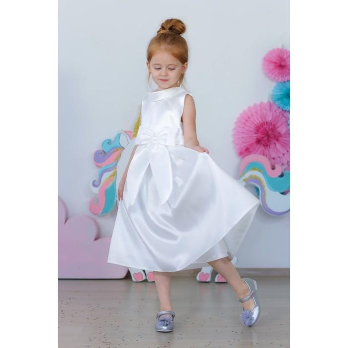Платье нарядное для девочки MINAKU «Мерелин», рост 128 см, цвет белый