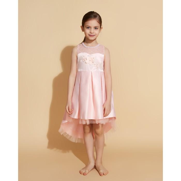 Платье нарядное для девочки MINAKU «Джульетта», рост 122 см, цвет розовый