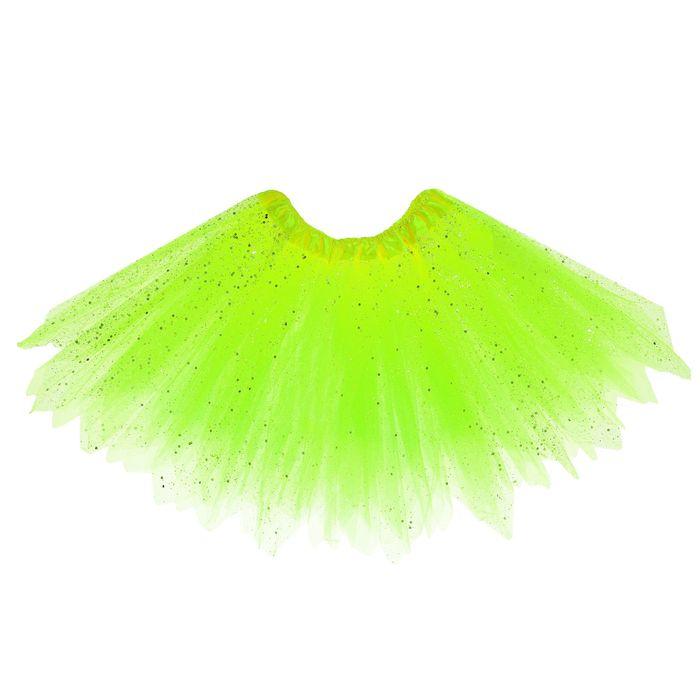 """Карнавальная юбка """"Блеск"""", 3-х слойная 4-6 лет, цвет салатовый"""