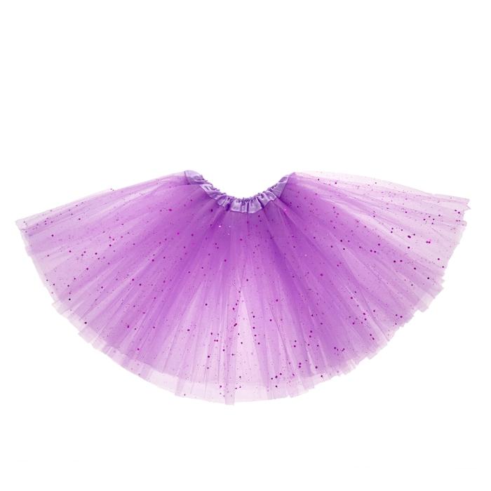 Карнавальная юбка 3-х слойная 4-6 лет, цвет сиреневый