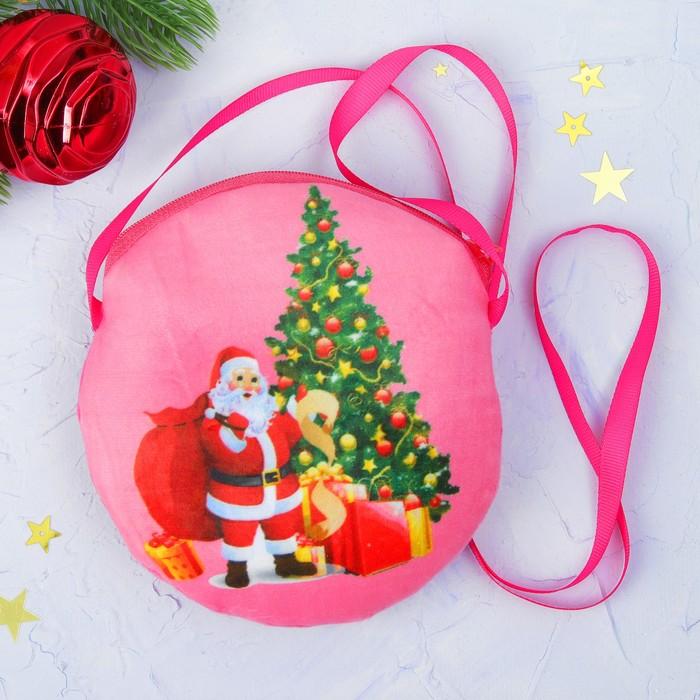 """Мягкая сумочка """"Дед Мороз у ёлки"""""""