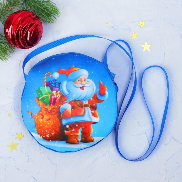 "Мягкая сумочка ""Дед Мороз и мешок с подарками"""
