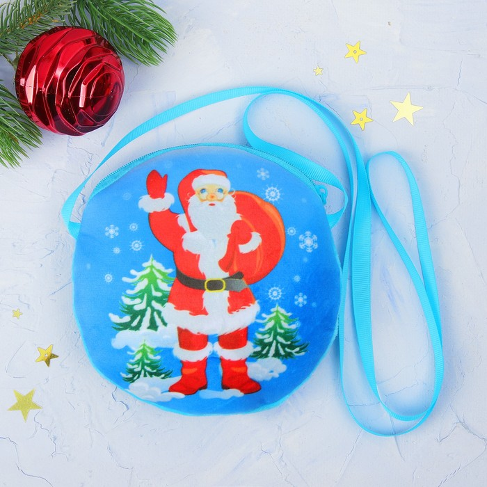 "Мягкая сумочка ""Дед Мороз и ёлочки"""