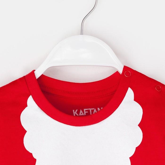 """Футболка детская KAFTAN """"Санта"""", рост 98-104 см (30), красный"""