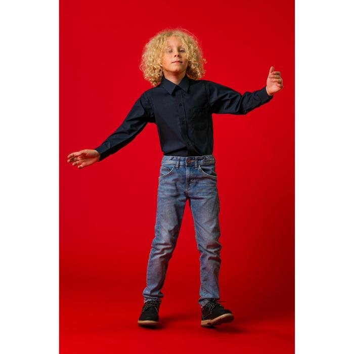 """Рубашка для мальчика """"Классическая"""", рост 128 см, цвет тёмно-синий"""