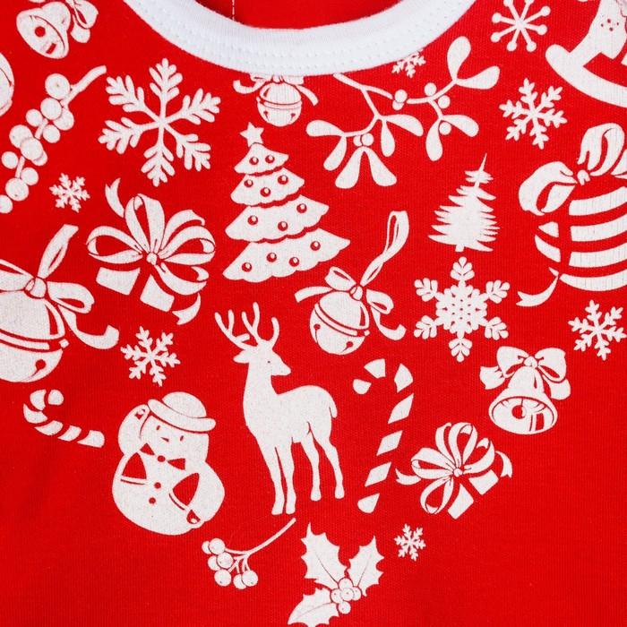 """Боди Крошка Я """"Любимчик Деда Мороза"""", красный, р.22, рост 62-68"""