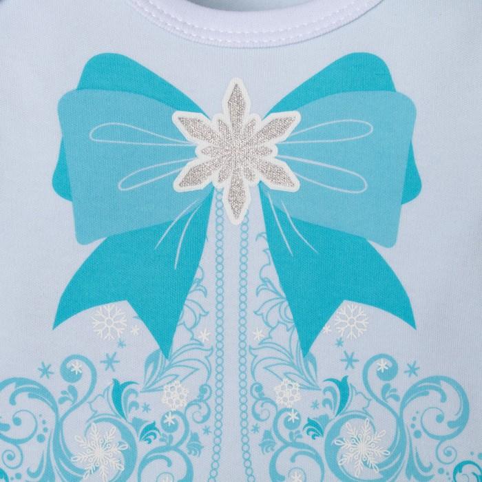 """Боди Крошка Я """"Маленькая снегурочка"""", голубой, р.26, рост 74-80"""
