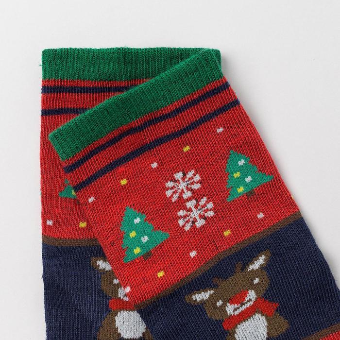 Носки детские «Оленёнок», цвет красный, размер 18-20