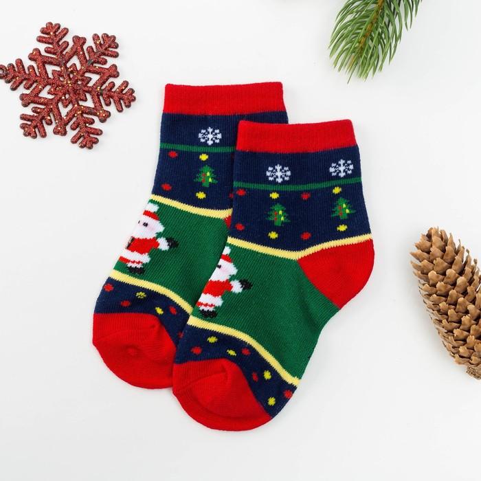 Носки детские Collorista «Дед Мороз» 1-3 г (13-15 см), 80% хл., 17 п/э, 3% эл.