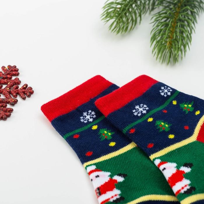 Носки детские Collorista «Дед Мороз» 6-8 л (19-21 см), 80% хл., 17 п/э, 3% эл.