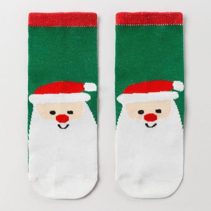 Носки детские «Мороз красный нос», цвет зелёный, размер 14-16