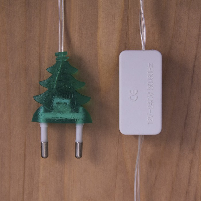 """Гирлянда """"Нить"""" с насадками """"Ежики цветные"""", 5 м, LED-20-220V,мигает,свечение мульти"""