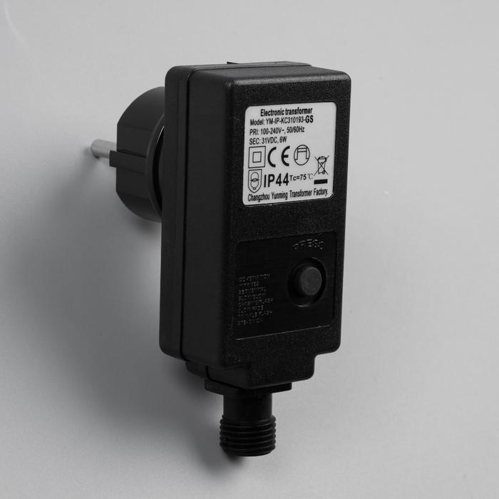 Трансформатор комнатный для гирлянд 24V, 6 Вт, Н.Т. 2W, чёрный