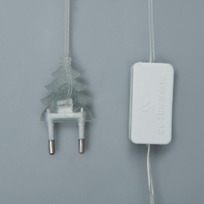 """Гирлянда """"Сеть"""", 1.6 х 1.6 м, LED-144-220V, нить прозрачная, свечение """"Флаг России"""""""