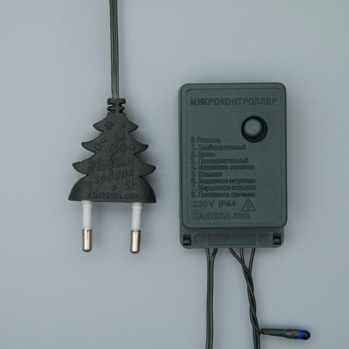 """Гирлянда """"Нить"""", 3.5 м, 50 ламп, 220V, 8 режимов, нить тёмная, свечение мульти (упаковка микс)"""