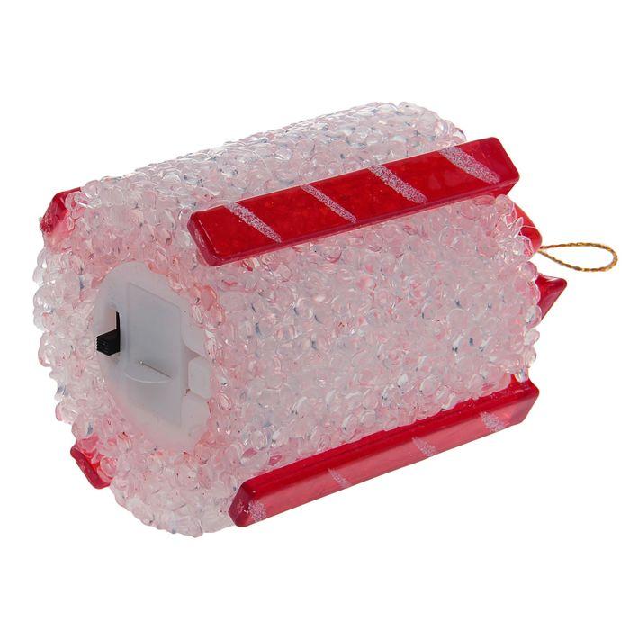 "Игрушка световая ""Подарок"" (батарейки в комплекте) 7 х 8,5 см, 1 LED, RGB, БЕЛЫЙ"