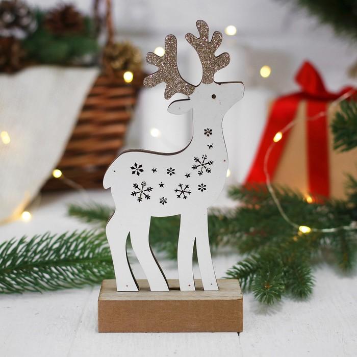 """Новогодний декор с подсветкой """"Снежный олень"""""""