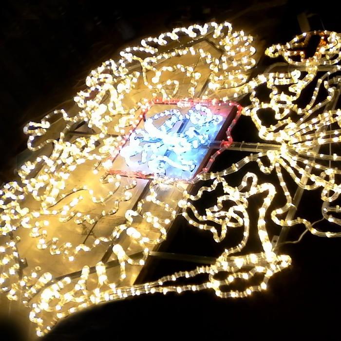 """Светодиодное панно """"ГЕРБ"""", 2.5 х 2.53 м, led-шнур 72 м, 100 Вт, металлический каркас"""