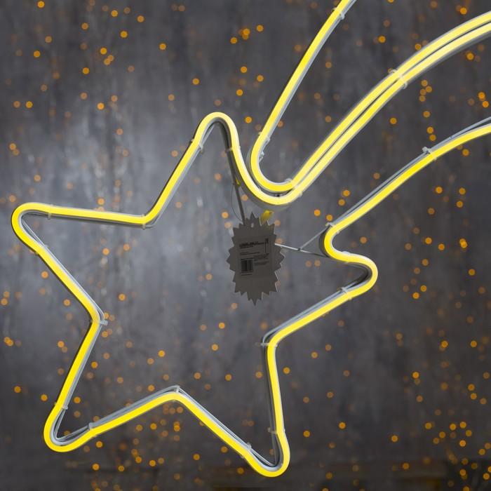 "Фигура неоновая ""Комета"" 70х27 см, 360 LED, 220V, ТЕПЛЫЙ-БЕЛЫЙ"
