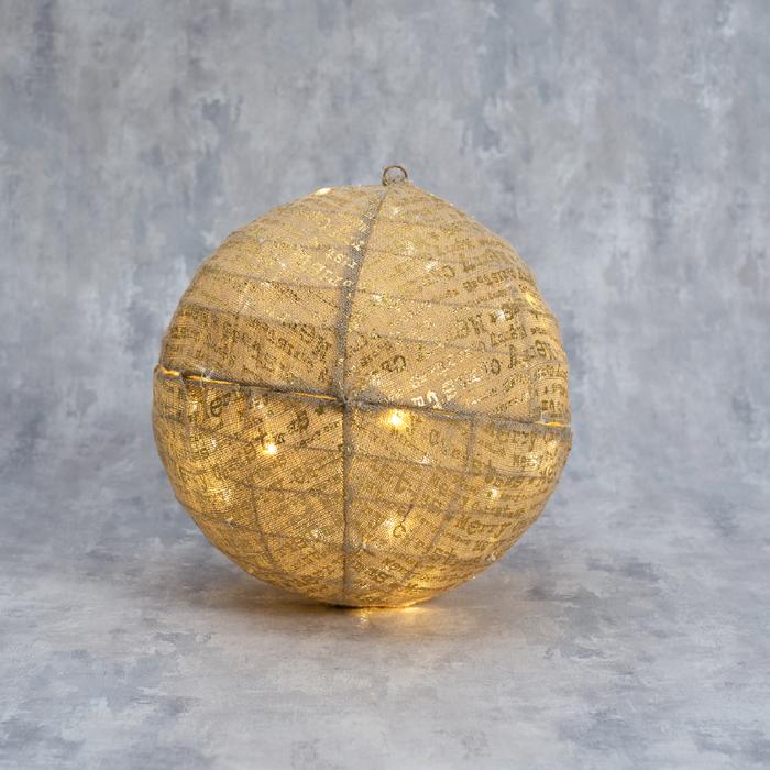 """Фигура ткань """"Шарик"""" 40 см, 40 LED, 220 В"""