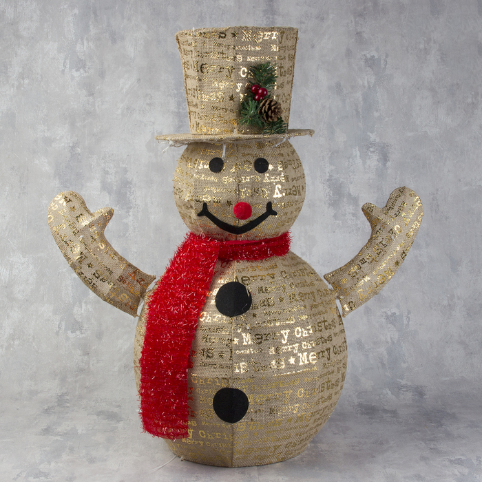 "Фигура ткань ""Снеговик"", 70 см, 80 LED, 220 В"