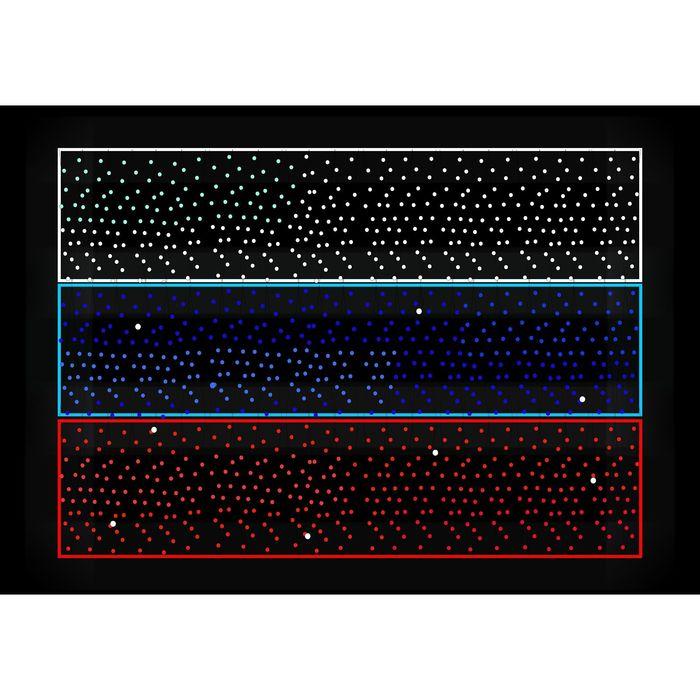 """Светодиодное панно  """"ФЛАГ РФ"""", 1 х 0,7 м, led-шнур 9 м, гирлянда  30м, 70 Вт, металл. каркас   18150"""