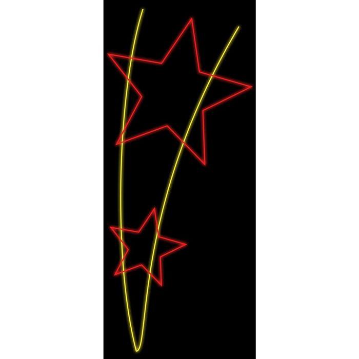 "Светодиодная консоль ""ПОБЕДА"", 1.5 х 0.65 м, led-шнур 7 м, 20 Вт, металлический каркас"
