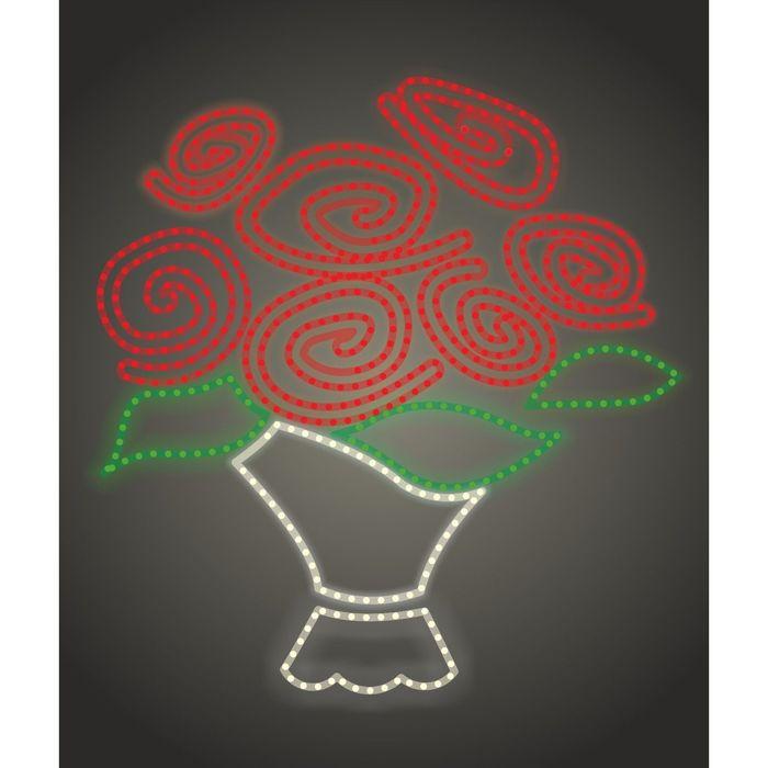 """Светодиодное панно """"Букет роз"""", 1300 х 1250 х 30 мм, 60 Вт"""